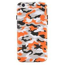 camouflage orange iphone case