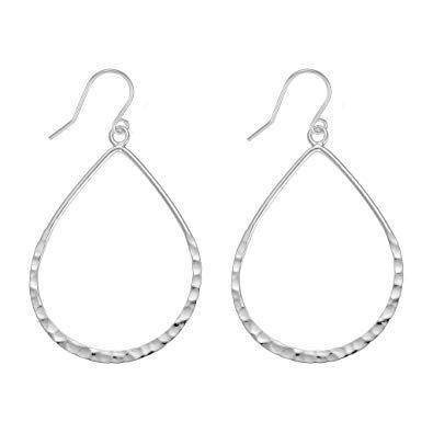 silver teardrop earrings - Google Search