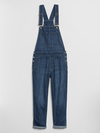 Relaxed Denim Overalls | Gap Factory