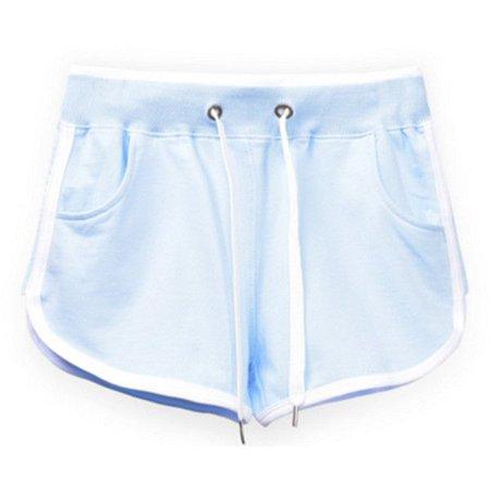 Pale Blue Women Gym Short