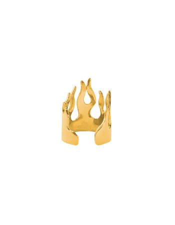 gold flame ring