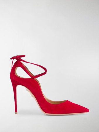 Aria 105mm suede pumps