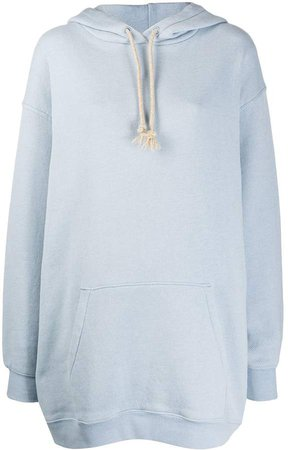 logo patch oversized hoodie