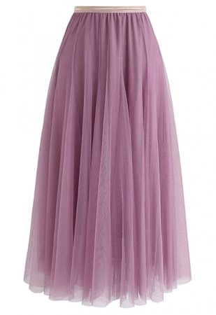 My Secret Weapon Tulle Midi Skirt in Lilac - Skirt - BOTTOMS - Retro, Indie and Unique Fashion