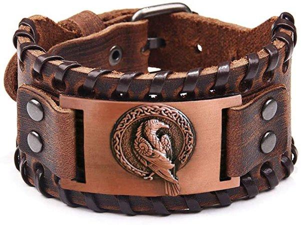 Amazon.com: TURTLEDOVE Viking Bracelet Odin's Raven - Crow Animal Bracelets of Norse Mythology Amulet - Scandinavian Talisman for Midgard Pagan: Jewelry