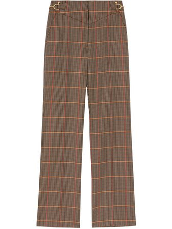 Burberry Houndstooth Tailored Trousers - Farfetch