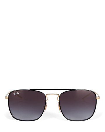 Ray-Ban Caravan Rectangular Wire Sunglasses | INTERMIX®