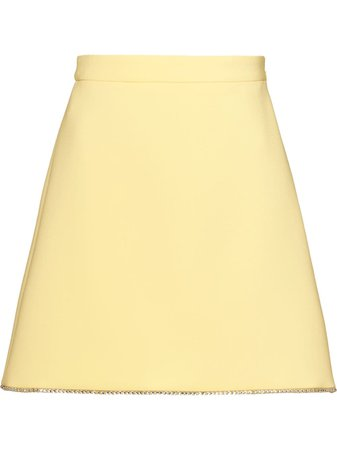 Miu Miu, Diamonds Embellished Faille Cady Skirt
