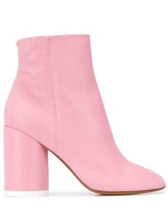 Pink MM6 Maison Margiela closed toe ankle boots - Farfetch