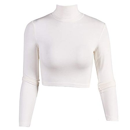 long sleeve white crop top - Google Search