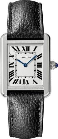 CRWSTA0030 - Tank Solo watch - Small model, steel, leather - Cartier