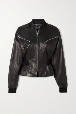 Xabia Leather Jacket - Black