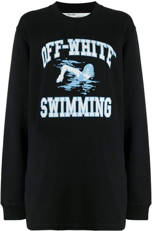 Off White swimming print sweatshirt