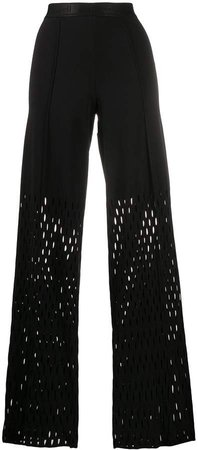 Alexa perforated trousers