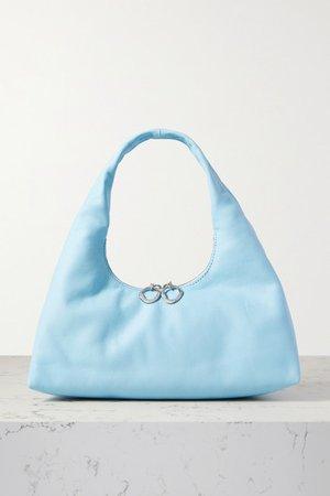 Enzo Mini Leather Tote - Blue