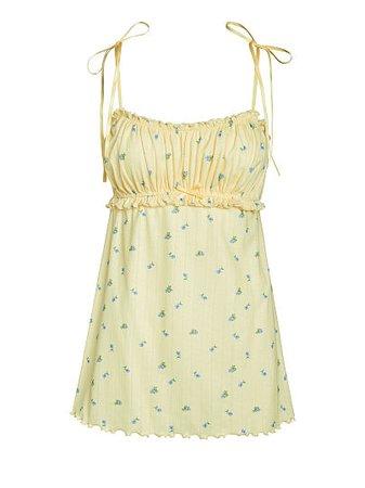 Blossom Pointelle Slip Dress - For Love & Lemons - vs