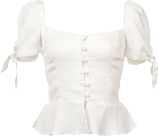 white button blouse png