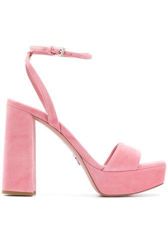Prada open-toe sandals pink 1XP76AF115008 - Farfetch