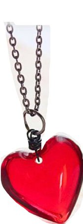 90's Red Heart Necklace