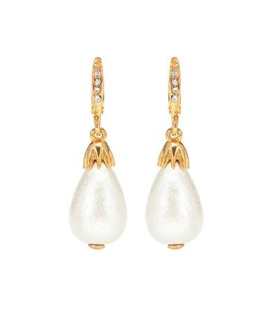 Faux Pearl Earrings, Oscar de la Renta