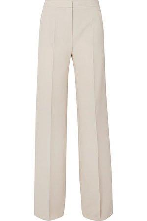 Max Mara | Wool-blend crepe wide-leg pants | NET-A-PORTER.COM