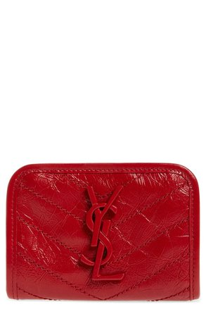 Saint Laurent Niki Quilted Leather Wallet | Nordstrom