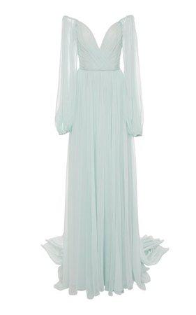 Silk-Chiffon Gown By Monique Lhuillier   Moda Operandi