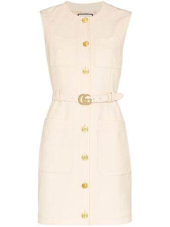 Gucci Belted Waist Mini Dress - Farfetch