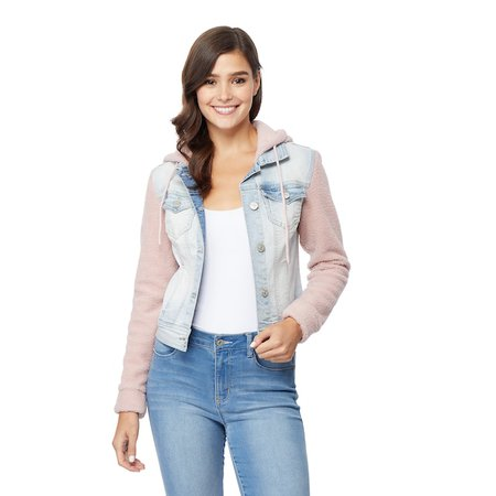 Juniors' WallFlower Cozy Sherpa Denim Jacket