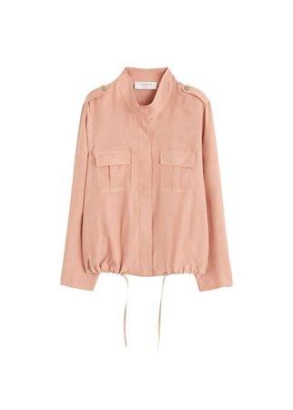 Violeta BY MANGO Cupro jacket