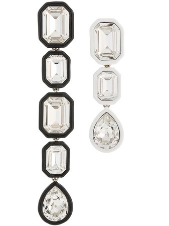 White Racil Grace Mismatched Earrings | Farfetch.com