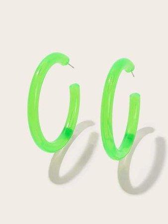 neon green earings