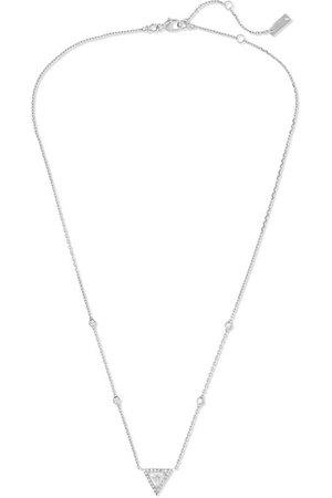 Messika   Théa 18-karat white gold diamond necklace   NET-A-PORTER.COM