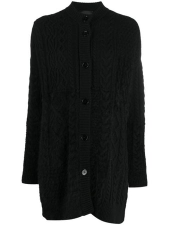 Black Roberto Collina cable knit cardigan - Farfetch
