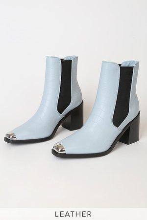 Senso Hero I Sky - Crocodile Mid-Calf Boots - Cool Leather Boots