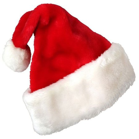 DressLily.com: Photo Gallery - Christmas Party Santa Hat Velvet Red And White Cap for Santa Claus Costume
