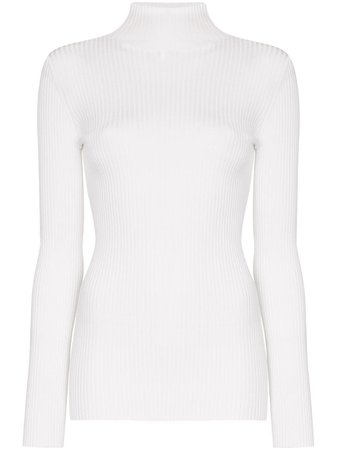Wolford ribbed turtleneck jumper white 52542 - Farfetch