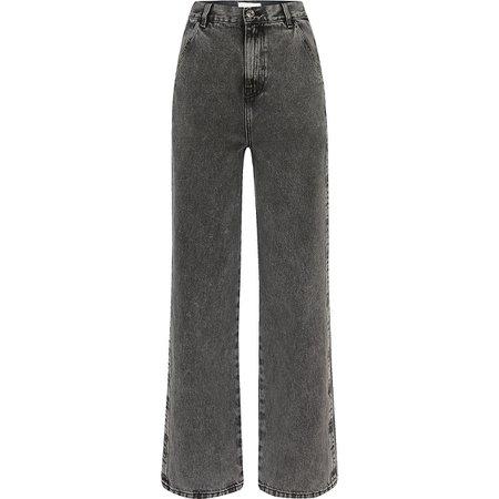 Grey wide leg bootcut slim jeans | River Island