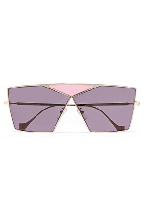 Loewe | Puzzle large aviator-style gold-tone sunglasses | NET-A-PORTER.COM