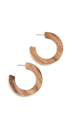 Soko Позолоченные деревянные серьги-кольца Paddle   SHOPBOP