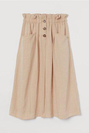 Calf-length Skirt - Beige - Ladies | H&M US