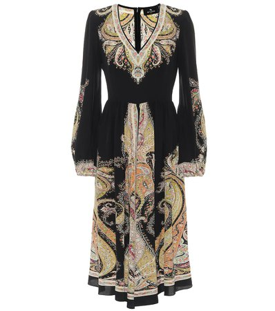 Printed Silk Midi Dress | Etro - Mytheresa