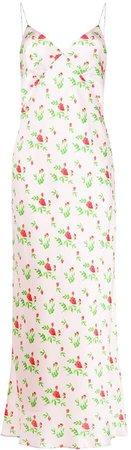 Rose-Print Slip Dress