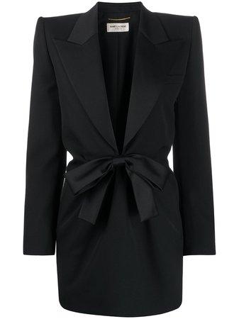 Saint Laurent Bow Tie Tuxedo Dress - Farfetch