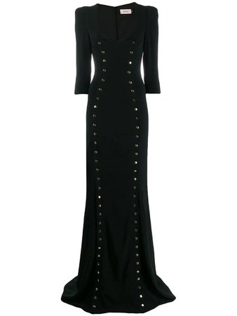 Murmur studded long dress