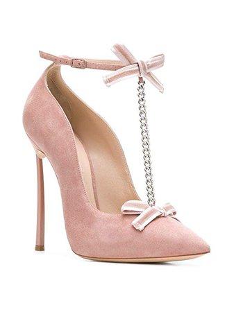 Amazon.com: Casadei Women's 1F525L120HY60695U Pink Suede Pumps: Shoes