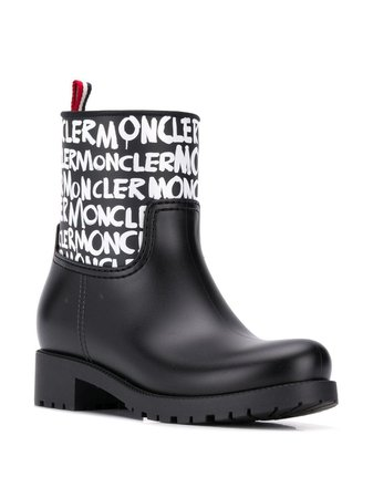 Moncler All over logo Ginette Rain Boots - Farfetch