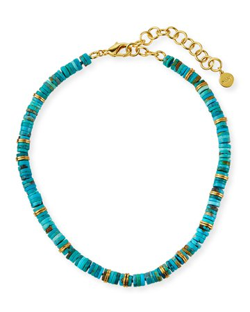 NEST Jewelry Turquoise and Heishi Necklace
