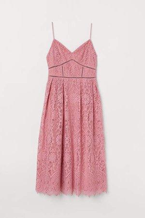 Lace Dress - Pink