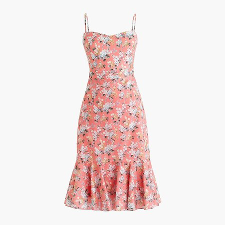 J.Crew: Ruffle-hem Midi Dress In Liberty® Josephine Floral pink